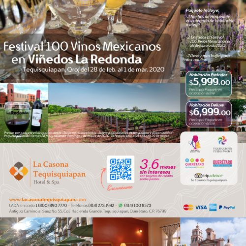 PAquete 100 vinos mx la redonda